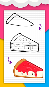 How to draw cute food, drinks step by step 5
