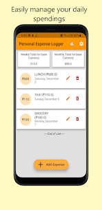 Personal Expense Logger Pro For Android 1
