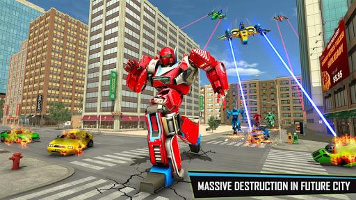 Drone Robot Car Game - Robot Transforming Games screenshots 1