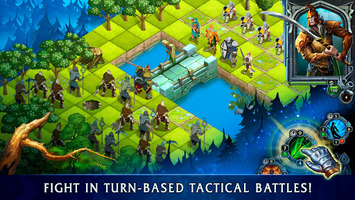 Heroes of War Magic-Turn Based RPG & Strategy game  screenshots 1