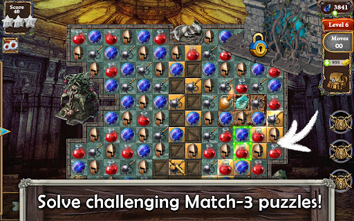 MatchVentures - Match 3 Castle Mystery Adventure Apkfinish screenshots 18