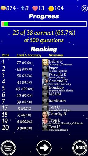 Play The Jesus Bible Trivia Challenge Quiz Game screenshots 4