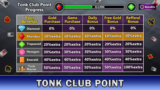 Tonk Online : Multiplayer Card Game android2mod screenshots 8