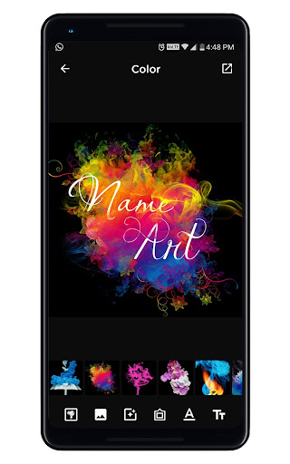 Smoke Name Art - Smoky Effect Focus n Filter Maker 0.36 Screenshots 11