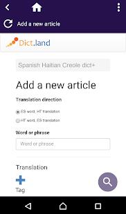 Spanish Haitian Creole dict