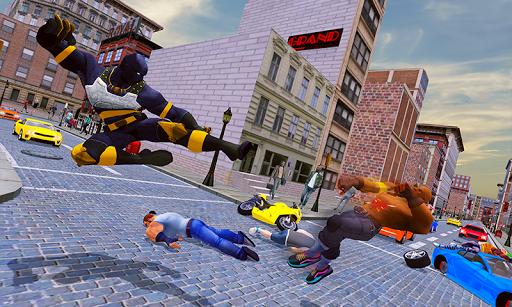 grand panther flying superhero city battle screenshot 3