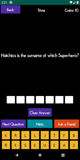 Superhero Quiz 1.0 screenshots 1