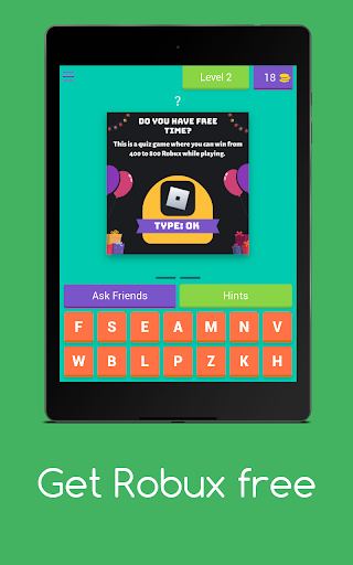 Get Robux Free - Quiz 2021  screenshots 9