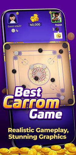 Carrom Gold : Multiplayer Friends Board Games King 2.15 screenshots 1