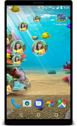 Bubble photo live wallpaper with aquarium 1.5 screenshots 1
