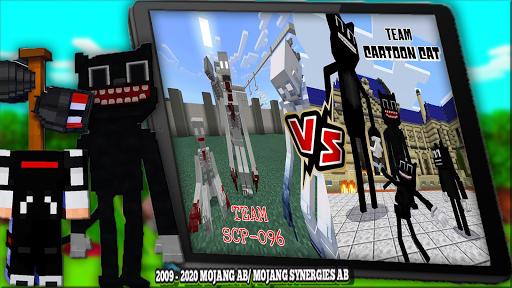 Horror Cartoon Cat Mod For MCPE & Siren Head 2021  screenshots 3