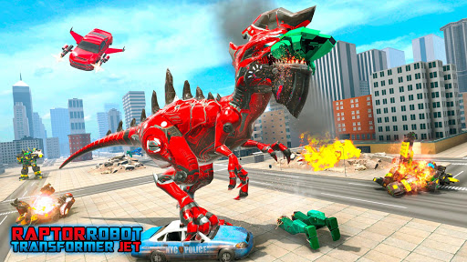 Raptor Robot Car Transform - Multi Robot Game 1.9 screenshots 11