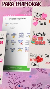 Stickers romanticos para WhatsApp - WAStickerApps Screenshot
