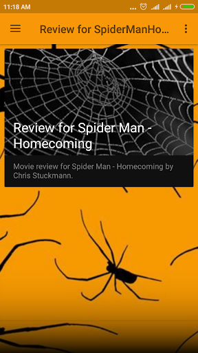 Review for Spider Hero Home Coming screenshots 1