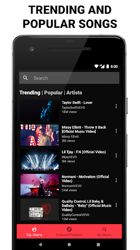Free Music & Videos - Music Player  Screenshots 1