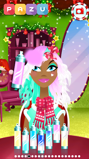 Girls Hair Salon Christmas - Hairstyling for kids 1.03 screenshots 4
