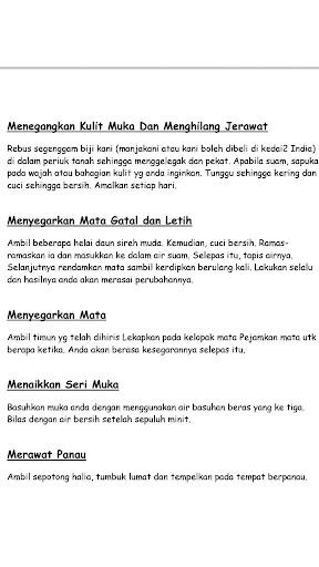 1001 Petua & Perawatan Tradisional Melayu screenshots 1