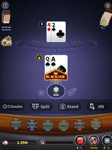 BlackJack 21 - blackjack free offline games 1.5.2 screenshots 10