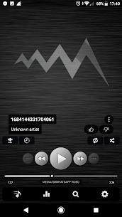 Poweramp v3 skin simple dark [Paid] APK 5
