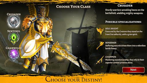 Code Triche Eterna: Heroes Fall - Deep RPG apk mod screenshots 1