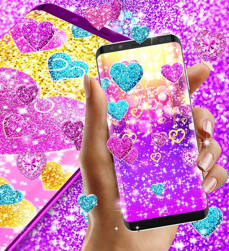 2021 Glitter hearts live wallpaper android2mod screenshots 5