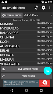 India Daily Gold Silver Price Screenshot