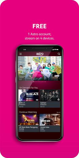 Astro GO - TV Series, Movies, Dramas & Live Sports 2.203.5/AC20.3.5/e8c5770bc3 Screenshots 1