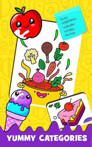 Fruits Coloring book & Food Drawing book Kids Free modavailable screenshots 3