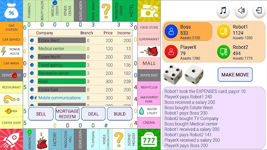 Monopolist – Business Dice Board 6
