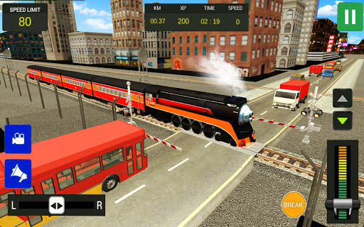 Modern Train Driving Simulator: City Train Games  screenshots 14
