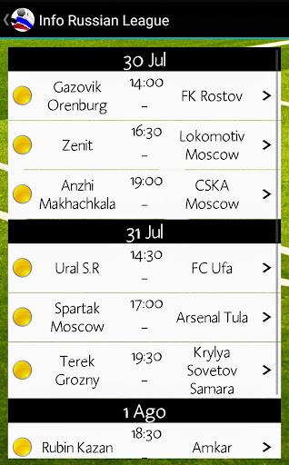 info russian premier league screenshot 3