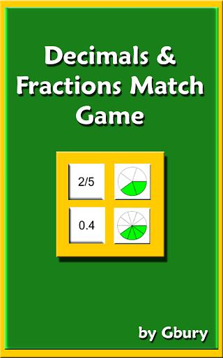 math decimals & fractions game screenshot 1