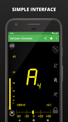 Guitar Tuner, Bass, Violin, Banjo & more | DaTuner 3.200 Screenshots 2