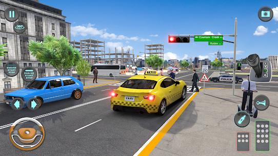City Taxi Driving simulator: PVP Cab Games 2020 2