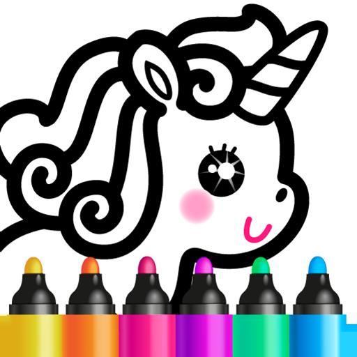 Jogos meninas! Jogos de colorir desenhos infantis!