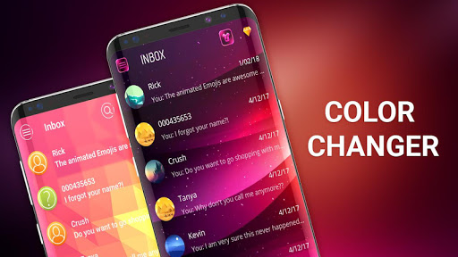 Color SMS theme to customize chat android2mod screenshots 1