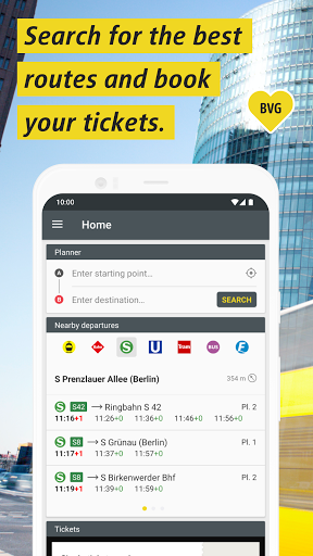 BVG Fahrinfo: Bus, Train, Subway & City Map Berlin 6.8.3 (108) Screenshots 1