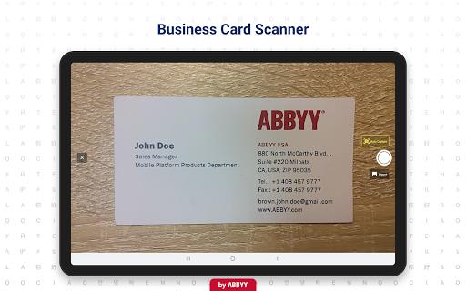 Foto do Business Card Reader - Business Card Scanner