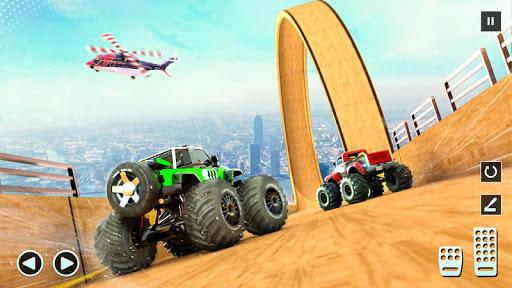 Télécharger Monster Truck Mega Ramp - Extreme Stunts GT Racing apk mod screenshots 3