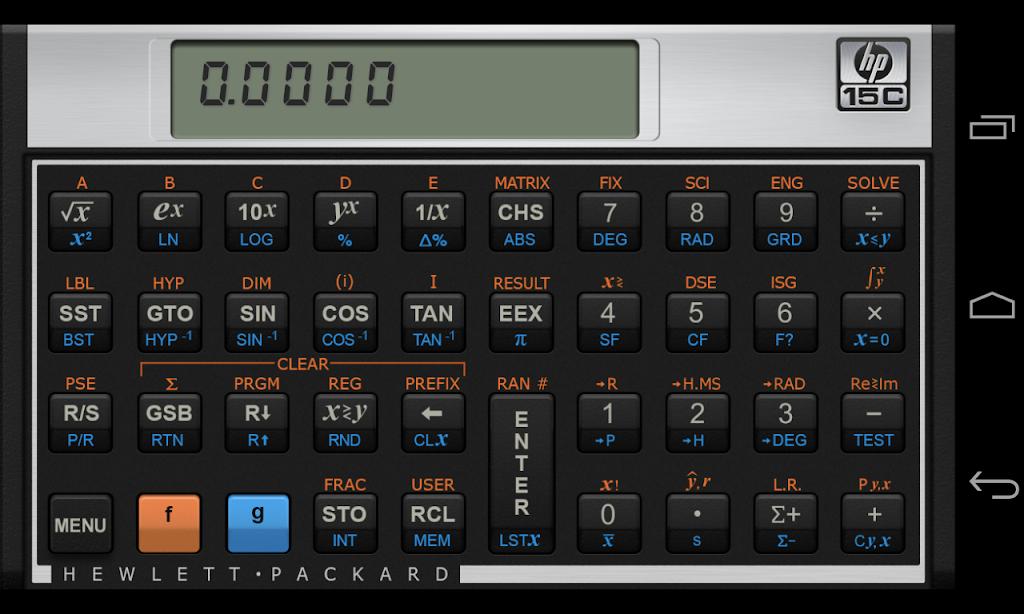 HP 15C Scientific Calculator  poster 0