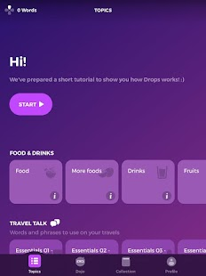 Drops Language Learning & Vocabulary App by Kahoot Screenshot