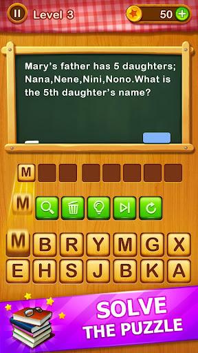 Word Riddles - Free Offline Word Games Brain Test 2.1 screenshots 2