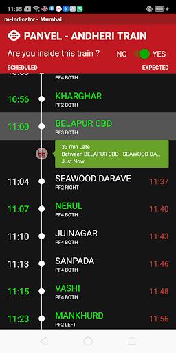 m-Indicator- Mumbai - Live Train Position 17.0.189 Screenshots 2