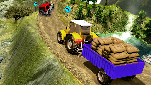 Cargo Tractor Trolley Simulator Farming Game 2 screenshots 5