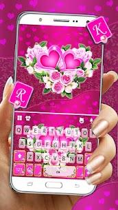 Pink Rose Flower Keyboard Theme 1
