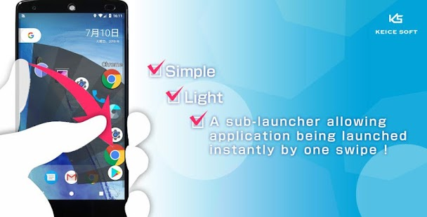 Schermata Quick Arc Launcher (Smart One Swipe Launcher)