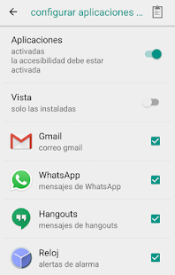 Notificaciones habladas Screenshot