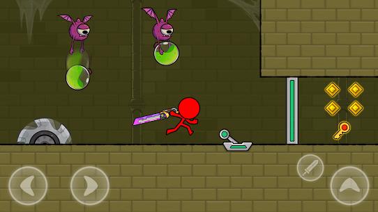 Kırmızı Çöp Adam: Animasyon vs Çöp Adam Dövüşü Apk İndir **2021* 5