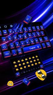 Cool Blue Red Light Keyboard