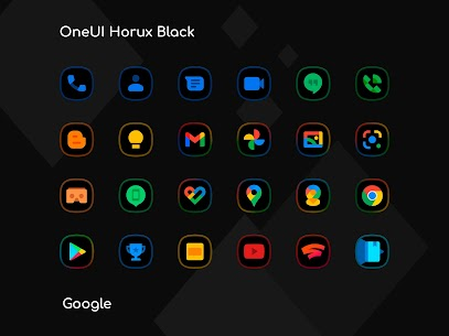 OneUI Horux Black APK- Icon Pack (PAID) Download Latest 8
